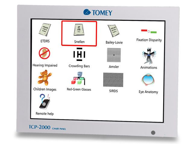 Optotype chart monitor / ophthalmic test / remote-controlled TCP-2000 Tomey