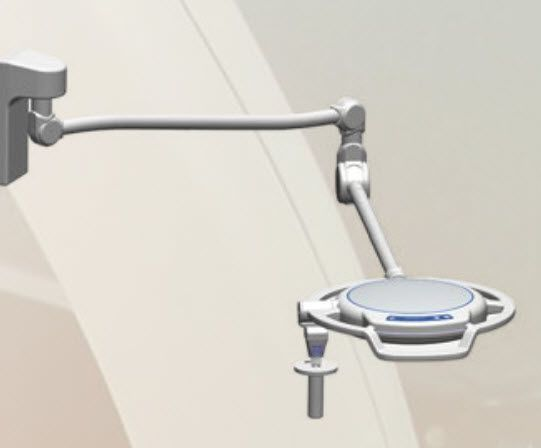 LED surgical light / wall-mounted / 1-arm LMI-400 Sunnex MedicaLights