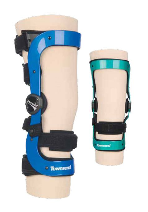 Knee orthosis (orthopedic immobilization) / knee rotation limitation (ACL) / articulated REBEL SERIES Townsend