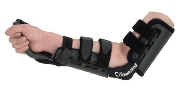 Elbow orthosis (orthopedic immobilization) / with handle / articulated LOW PROFILE Townsend
