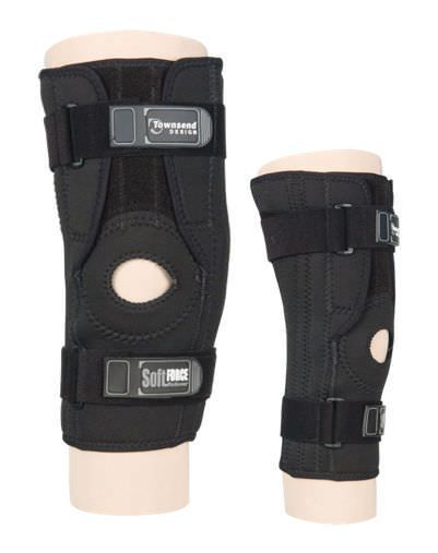 Knee orthosis (orthopedic immobilization) / with flexible stays / open knee / with patellar buttress SOFTFORCE Townsend