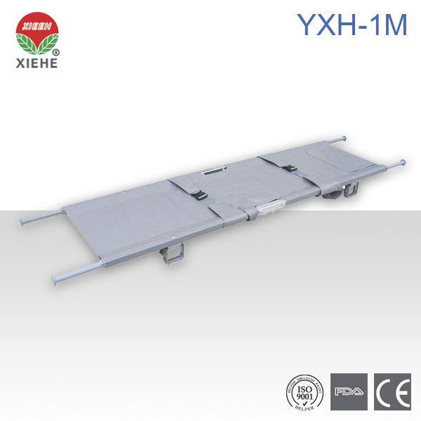 Folding stretcher / portable / aluminium / 1-section 159 kg | YXH-1M Zhangjiagang Xiehe Medical Apparatus & Instruments