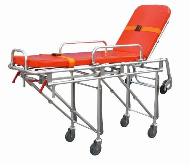 Emergency stretcher trolley / with adjustable backrest / automatic / mechanical 159 kg | YXH-3A5 Zhangjiagang Xiehe Medical Apparatus & Instruments