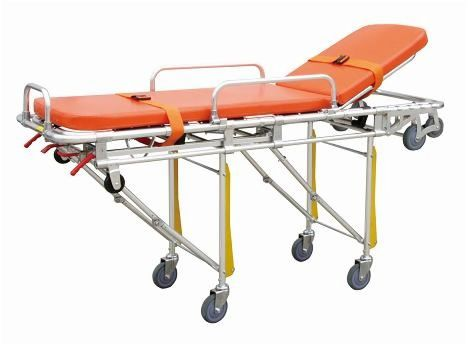 Emergency stretcher trolley / with adjustable backrest / mechanical / 3-section 159 kg | YXH-3A2 Zhangjiagang Xiehe Medical Apparatus & Instruments