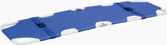 Folding stretcher / stainless steel / 1-section 159 kg | YXH-1B3 Zhangjiagang Xiehe Medical Apparatus & Instruments