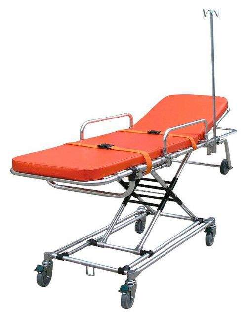 Emergency stretcher trolley / height-adjustable / mechanical / 2-section 159 kg | YXH-3G Zhangjiagang Xiehe Medical Apparatus & Instruments