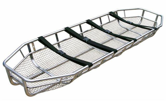 Basket stretcher / emergency / stainless steel / 1-section 350 kg | YXH-6C Zhangjiagang Xiehe Medical Apparatus & Instruments