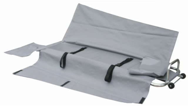 Portable stretcher / folding / aluminium / on casters 159 kg | YXH-1H Zhangjiagang Xiehe Medical Apparatus & Instruments