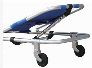 Folding stretcher / aluminium / manual / on casters 159 kg | YXH-1A3 Zhangjiagang Xiehe Medical Apparatus & Instruments