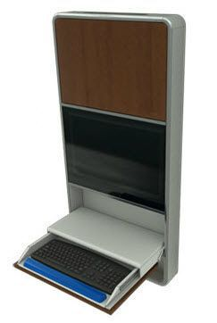 Medical computer workstation / wall-mounted / recessed Rubbermaid Rubbermaid Medical Solutions
