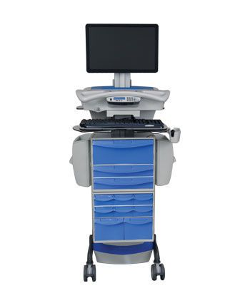 Battery-powered computer cart / medical / medicine distribution 1806467 Rubbermaid Medical Solutions