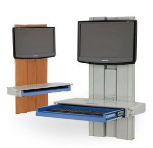 Medical computer workstation / wall-mounted Rubbermaid Medical Solutions