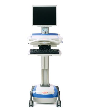 Medical computer cart / battery-powered / height-adjustable 9M38-00-A55 Rubbermaid Medical Solutions