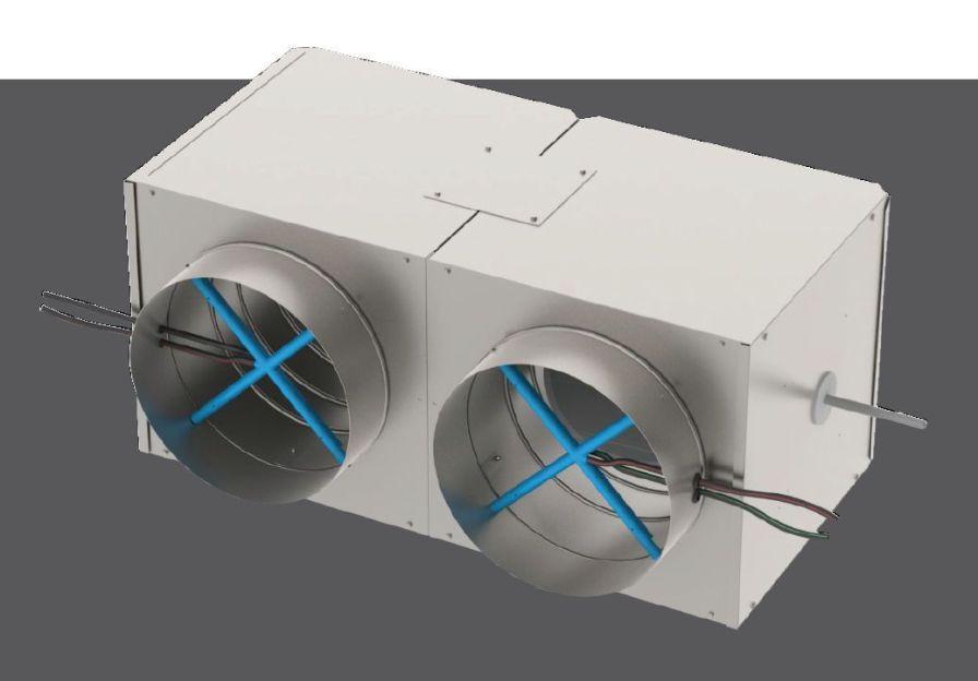 Air flow regulator for healthcare facilities DEDV Titus