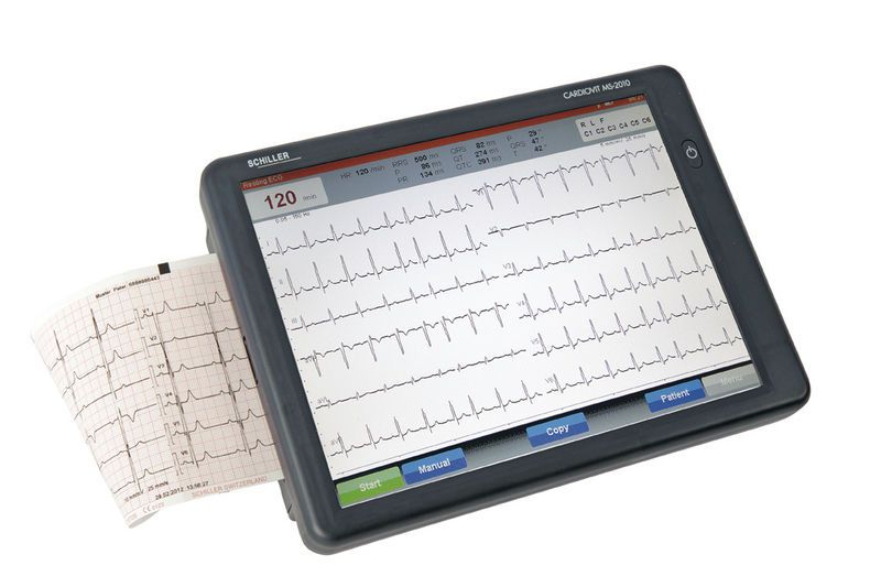 Digital electrocardiograph / 12-channel / with touchscreen CARDIOVIT MS-2010 SCHILLER