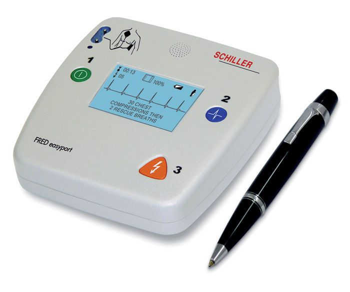 Automatic external defibrillator / with ECG monitor / public access FRED easyport SCHILLER