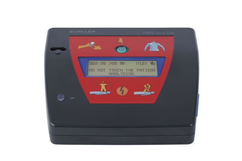 Automatic external defibrillator / with ECG monitor / public access / wireless FRED easy Life SCHILLER