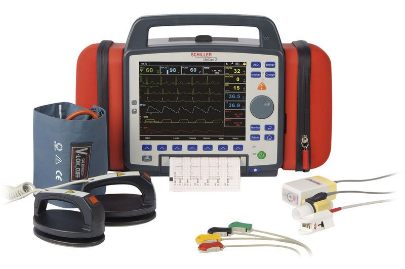 Semi-automatic external defibrillator / with modular multi-parameter monitor ARGUS PRO LifeCare 2 SCHILLER