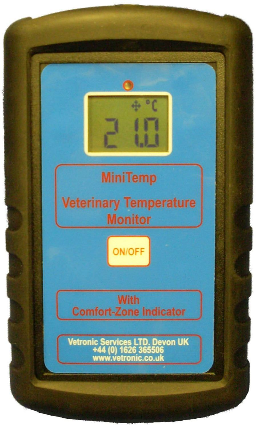 Temperature patient monitor / veterinary / wireless MiniTemp Vetronic Services
