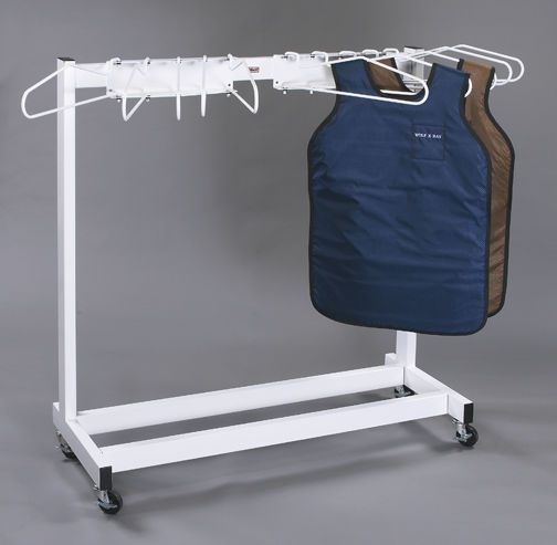 Mobile X-ray apron rack 16411 Wolf X-Ray Corporation
