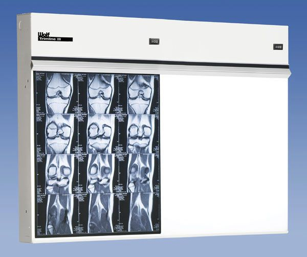 White light X-ray film viewer / 2-section 23402 Wolf X-Ray Corporation