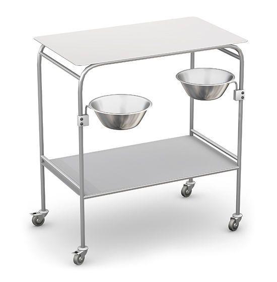 Treatment trolley / instrument / with basin bracket / stainless steel SZ series TECHMED Sp. z o.o.