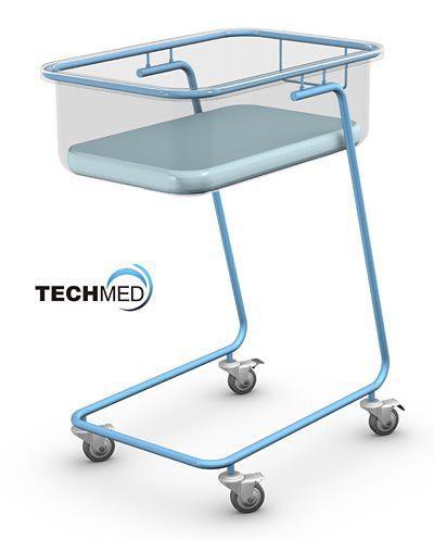 Reverse Trendelenburg hospital baby bassinet / transparent BM-01 TECHMED Sp. z o.o.