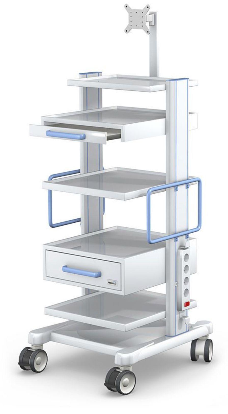 Medical equipment trolley APAR series APAR-2 type TECHMED Sp. z o.o.