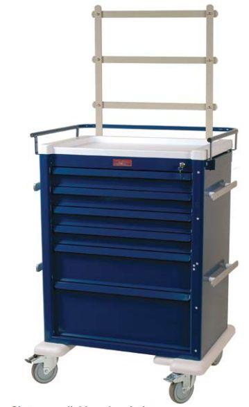 Anesthesia trolley / with shelf unit AL809K6-ANS Harloff