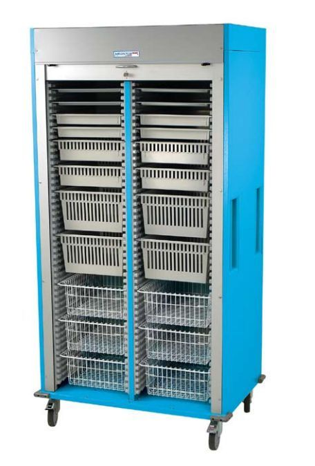 Medical cabinet / storage / for healthcare facilities / with tambour door MS8140-OPTHA Harloff