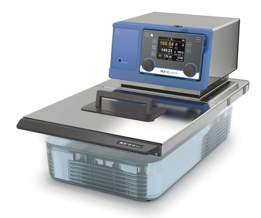 Thermostatic laboratory water bath -20 °C ... +250 °C | IC control eco 18 c IKA