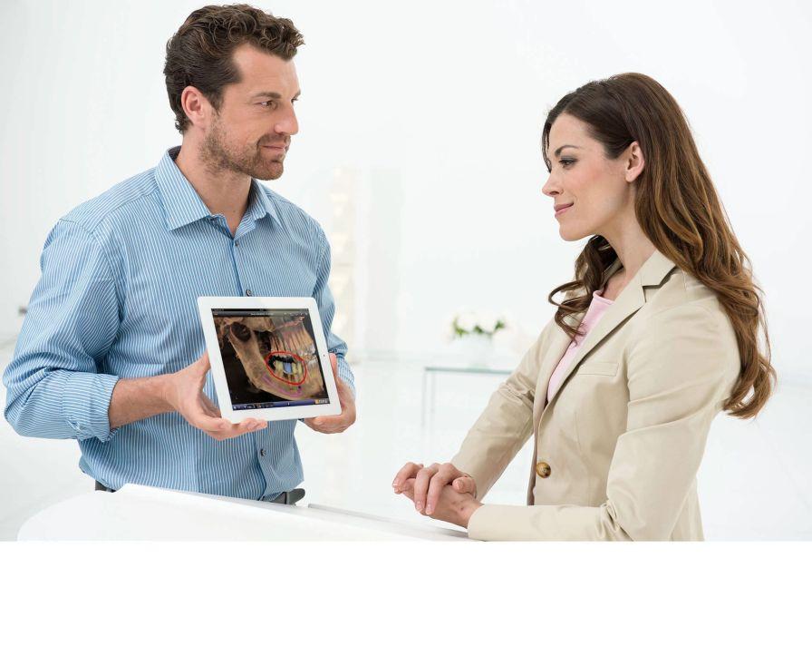Dental imaging iOS application SIDEXIS iX Sirona Dental Systems