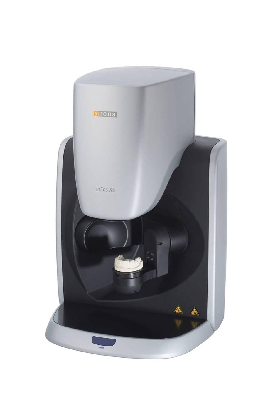 Dental laboratory dental CAD CAM scanner inEos X5 Sirona Dental Systems