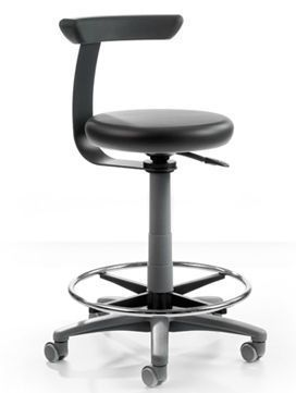 Dental stool / on casters / height-adjustable / with backrest PAUL Sirona Dental Systems