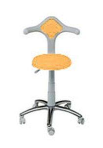Dental stool / on casters / height-adjustable / with backrest Estro L VITALI S.R.L.