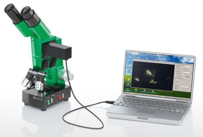 Laboratory microscope / optical / fluorescence / binocular CyScope® TB Sysmex Partec GmbH