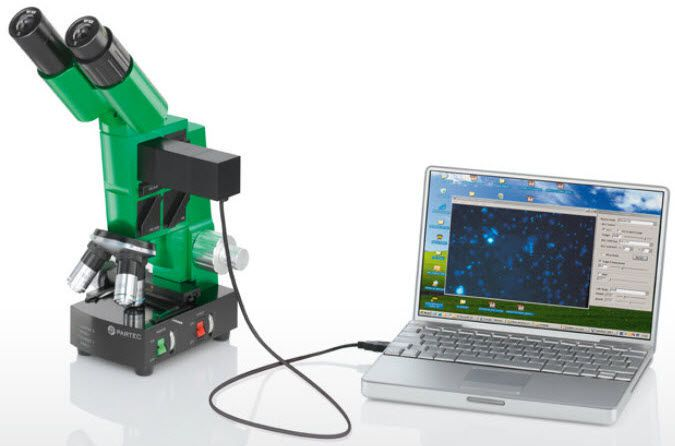 Laboratory microscope / optical / fluorescence / binocular CyScope® Malaria Sysmex Partec GmbH