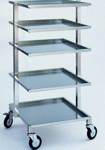 Instrument trolley / 5-tray 720 x 680 mm | 2100 C.B.M.