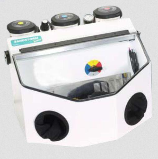 3 tanks dental laboratory sandblaster SandStorm Prestige I/O - 80170 Vaniman