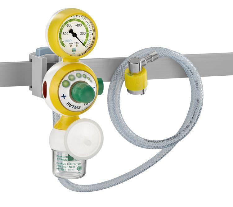 Rail-mounted vacuum regulator 0 - 1 000 mbar | RVTM3 Technologie Medicale