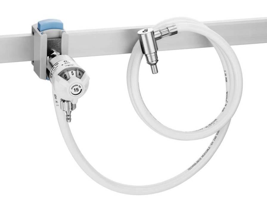 Oxygen flowmeter / rail-mounted 1 - 50 L/mn | DEBSON TM2 Technologie Medicale