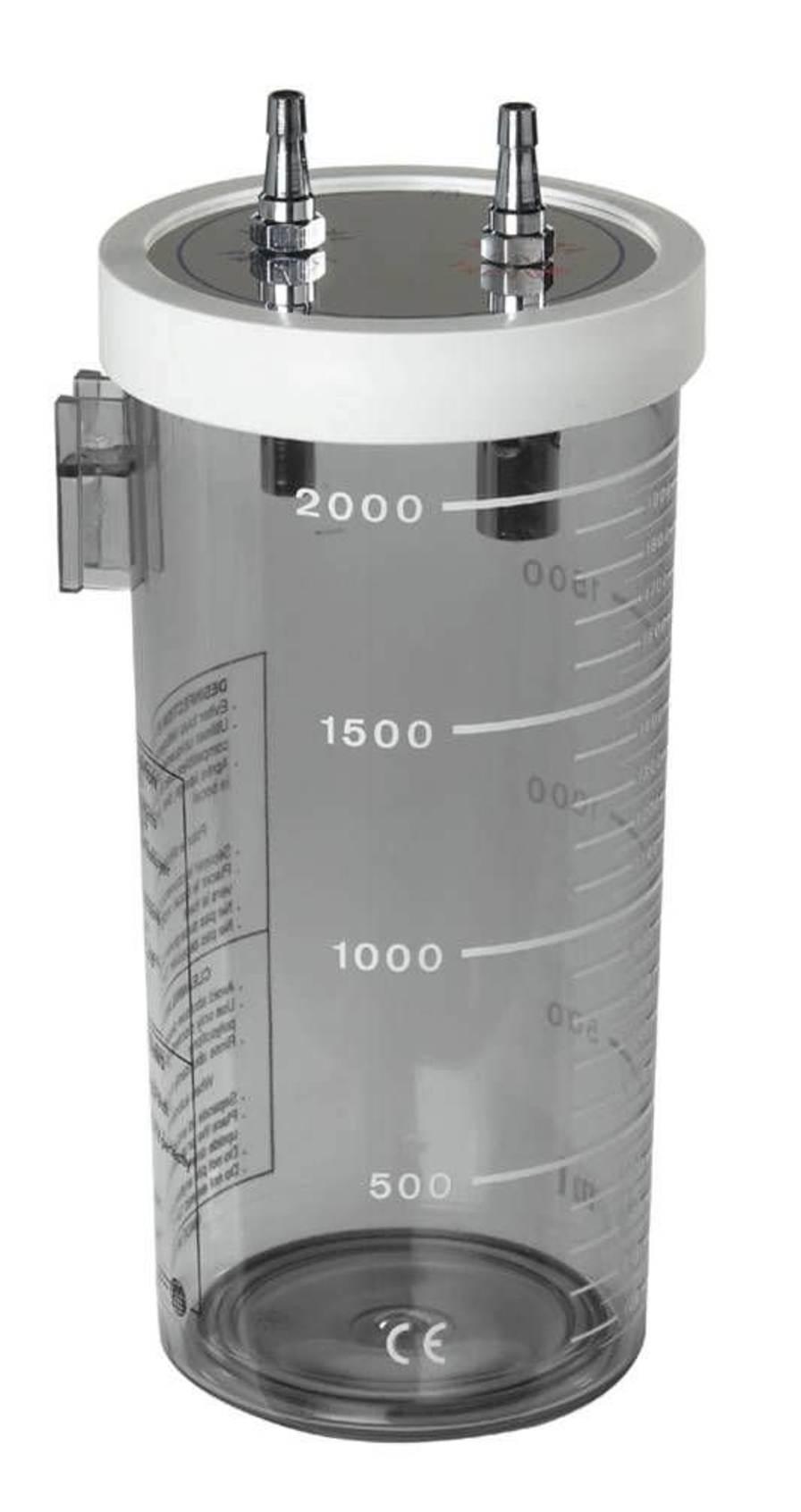 Medical suction pump jar / polycarbonate / suction polysulfonate 2 L | TM B03 Technologie Medicale