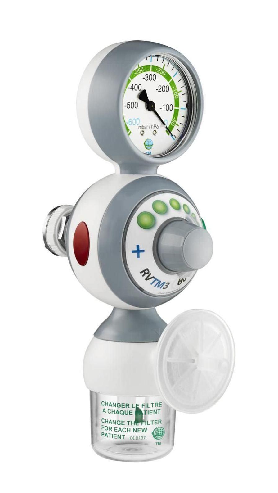 Vacuum regulator / plug-in type 0 - 1 000 mbar | RVTM3 Technologie Medicale