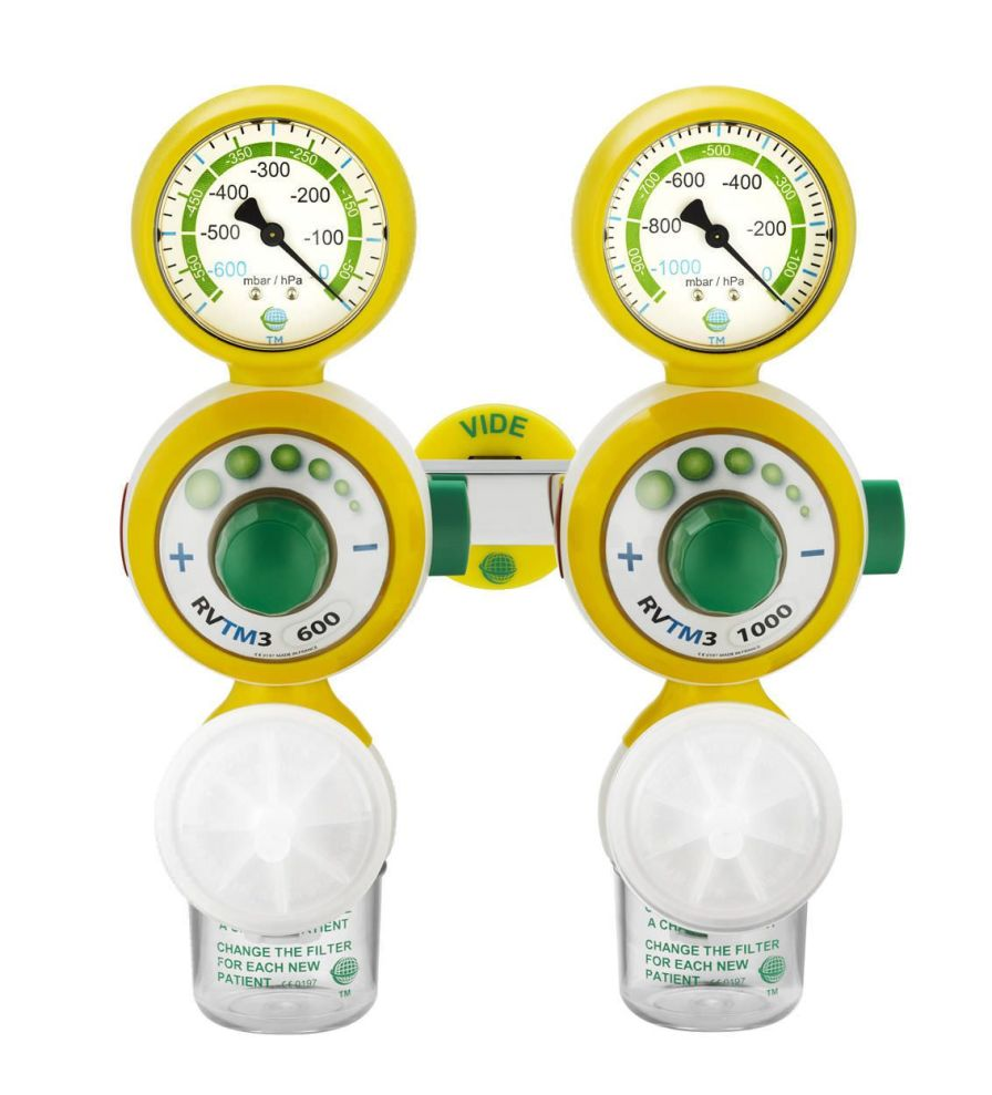 Double regulator / plug-in type 0 - 1 000 mbar | RVTM3 Technologie Medicale
