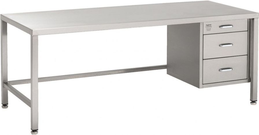 Healthcare facility desk / 3-drawer W/WW0325 TEKNOMEK