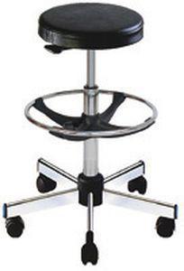 Medical stool / on casters / rotating / height-adjustable W/WW1712/C TEKNOMEK