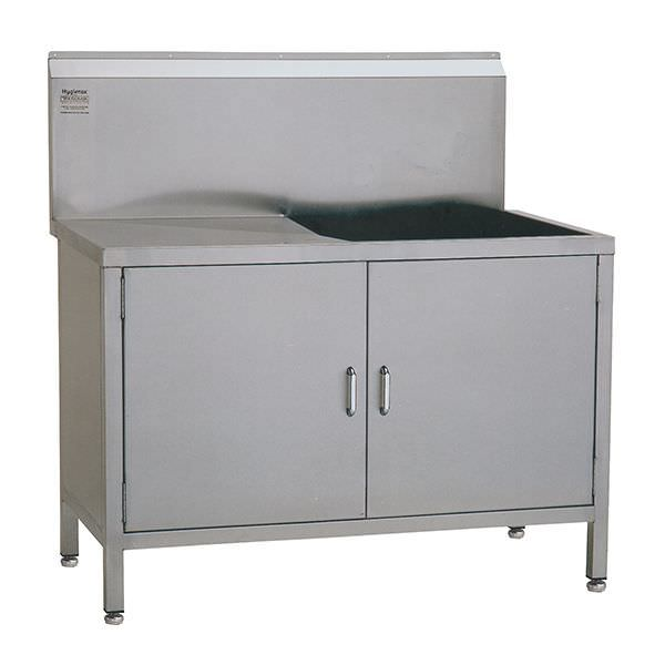Stainless steel sink / furniture-mounted / with drainboard / 1-station W/WUT46645L TEKNOMEK