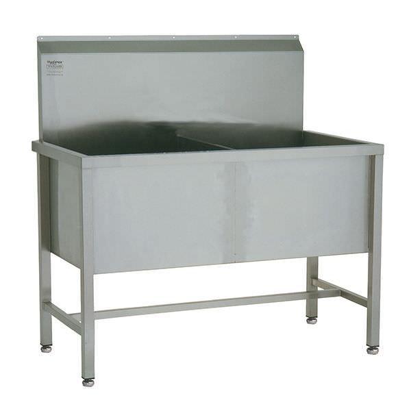 Stainless steel sink / stainless steel / 2-station W/WUT26645 TEKNOMEK