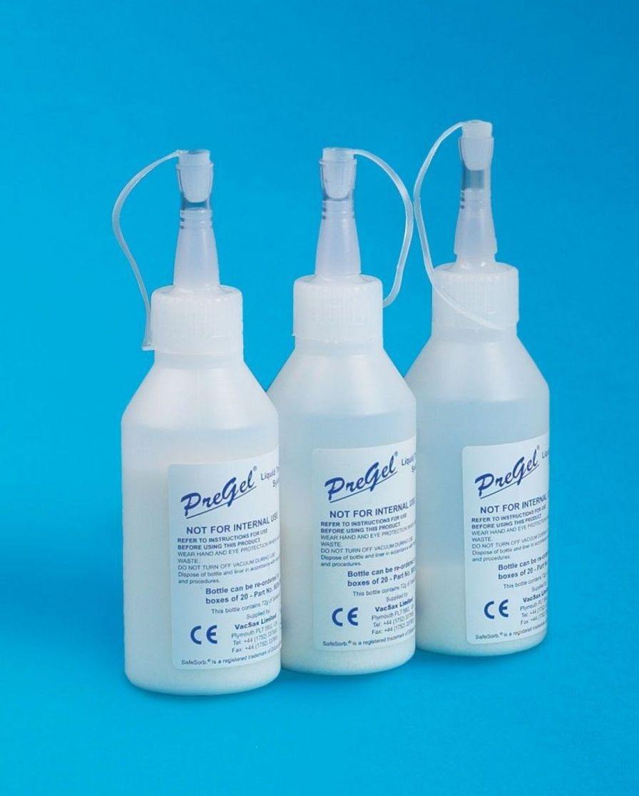 Solidifying gel for medical suction pump jar PREGEL Vacsax