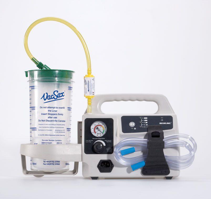 Electric surgical suction pump / handheld S-SCORT® DUET Vacsax